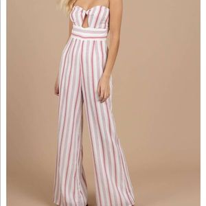 Striped jumpsuit from Tobi
